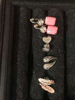 Fashion earrings juicy couture and fossil