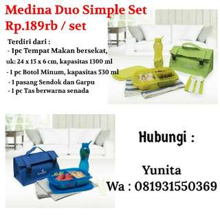 Medina Lunch Box Kotak makan set