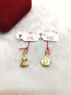 Saudi gold necklace pendant