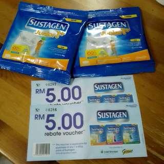 🎁 free item 🎁 Sustagen Junior +1 with RM 5 Rebat #Fesyen50