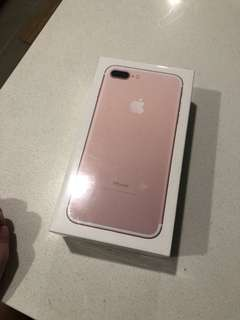 BRAND NEW IPhone 7 Plus, 128GB Rose Gold