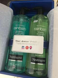 Gift box 2 large bottles Neutrogena Rainbath shower and bath gel