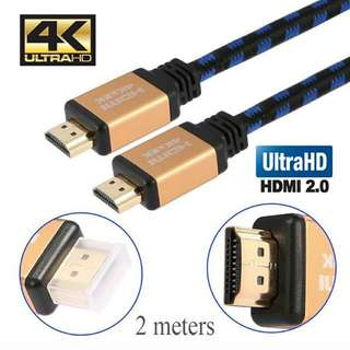 High Speed HDMI Cable, Support HD 4K * 2K 3D Audio-Video, HDMI AM To AM, Black (2.0meter)