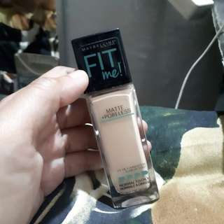 Maybelline fit me foundation matte poreless