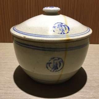 早期陶瓷豬油罐 陶瓷燉鍋 陶瓷湯鍋 燉鍋 豬油罐 老燉鍋
