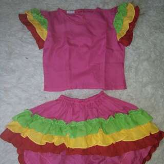 Mexico costume 4-6 yrs old