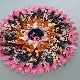Handmade table mat 38cm diameter