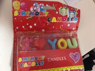 I love you Birthday candles 我愛你生日蛋糕蜡烛