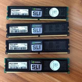 OCZ NVIDIA SLI-Ready Edition PC6400 8GB Ram (4 x 2GB)