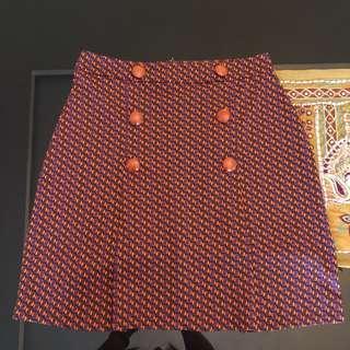LOLA&LIZA Orange/Purple Skirt
