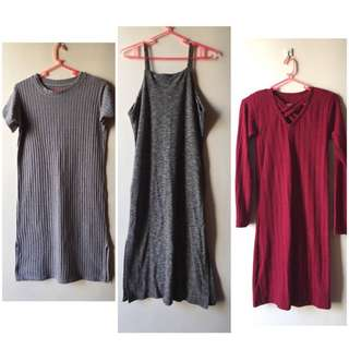 Bodycon Dress (3 pcs)