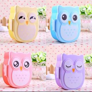 Microwave Owl Lunch Box Food Container Box Bento Meal BoxM