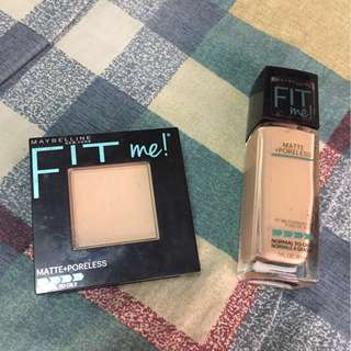 MAYBELLINE FIT ME FOUNDATION AND POWDER BUNDLE