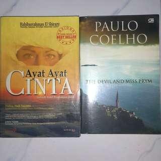 PROMO!!! Preloved Novel Paulo Coelho bonus Novel Ayat-Ayat Cinta
