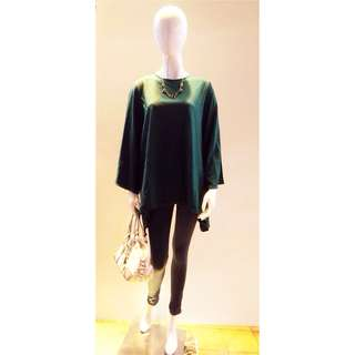 GREEN JUMBO BLOUSE