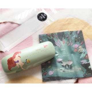 日本版 - 日本版 - Disney Princess Mermaid Ariel 迪士尼公主小魚仙 眼鏡盒連抹妥\鏡布
