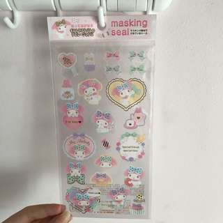 Last PCS My Melody Masking Stickers Seal