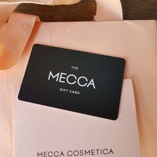 MECCA cosmetics gift voucher