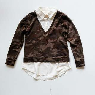 Army camouflage military sweater blouse