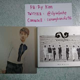 CLEARANCE SALE. INFINITE BE BACK. WITH SPECIAL PHOTOBOOK + WOOHYUN PHOTOCARD. PRICE INCLUDE POSTAGE.