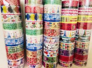 Colourful cute Washi tape/stickers #Bajet20