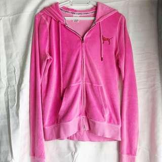 Victoria's Secret PINK Velvet Hoodie in Pink