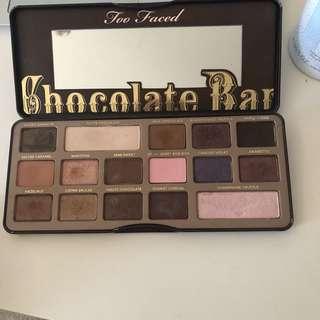 too faced eyeshadow  chocolate bar
