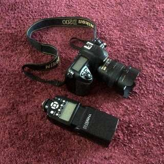 Nikon d200, lense Dan flash