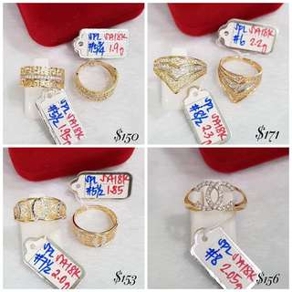Click to view- 18K Genuine Gold Rings
