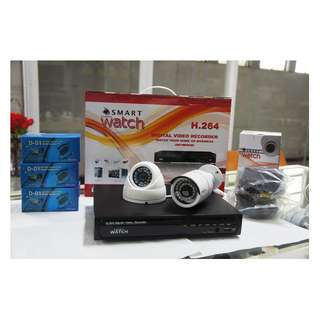 CCTV HD Budget Package w/ 1TR Storage and 2  HD Camera