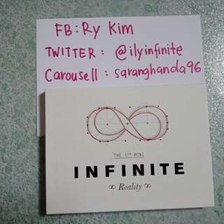 CLEARANCE SALE. INFINITE REALITY NORMAL VERSION. WITH PHOTOCARD AND FOLDED POSTER.