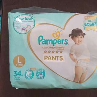 Pampers pants L 34