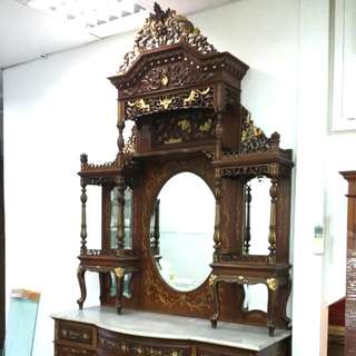 Huge Antique Peranakan Sideboard(153cm x 54cm/64cn x 300cm H)