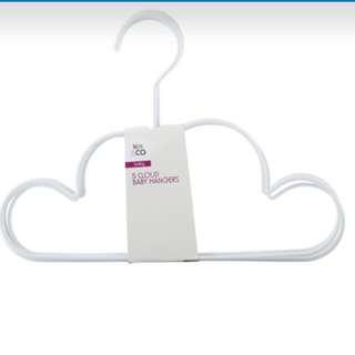 Cloud Baby Hangers - Set of 5