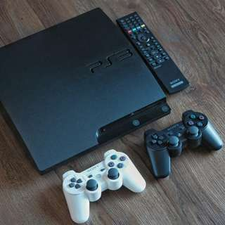 Sony PlayStation 3 PS3 Slim CECH-3001A 160GB R1 Black Plus Freebies