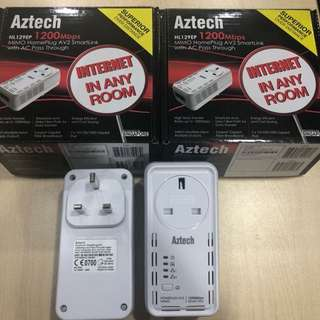 AZTECH 1200MB/S HOME PLUGS