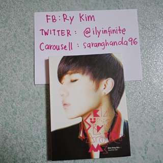 CLEARANCE SALE. INFINITE SUNGGYU ANOTHER ME. WITH STICKERS. PRICE INCLUDE POSTAGE.