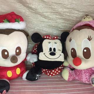 Mickey & Minnie Mouse Stuffed toys