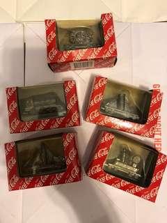 Coca Cola train 早期美國製可口可樂金屬靜態迷你精裝火車組 可口可樂收藏品