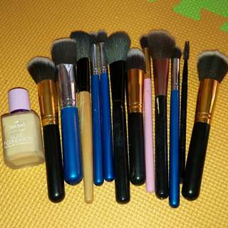 Authentic Bundle make up brushes with Sansan