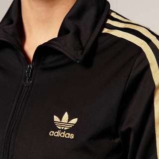 OFFER! Adidas Gold Stripes Black Top
