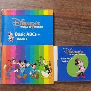 二手 Disney's World of English Basic ABC+ Book1/2/3 + CD (不散賣)