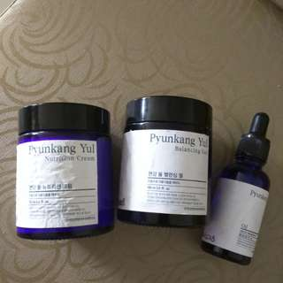 Pyunkang yul: face oil, nutrition cream, balancing gel