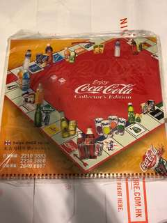 Coca Cola monthly calendar year of 2002