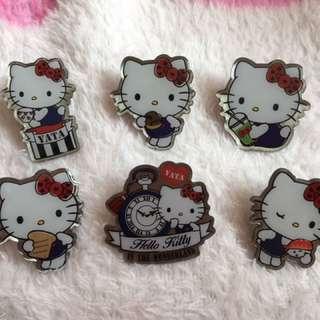 絕版 一田Hello Kitty 襟章一套6個 (包郵)