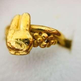 My melody Gold ring 純金戒指 周生生