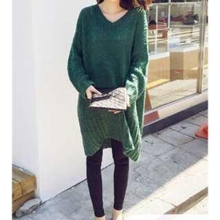 韓國帶回綠色毛衣
