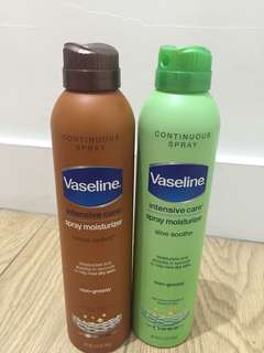 Vaseline Spray Lotion