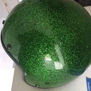 Daytona Candy Green 3/4 helmet
