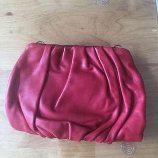 Rabeanco 紅色皮手袋